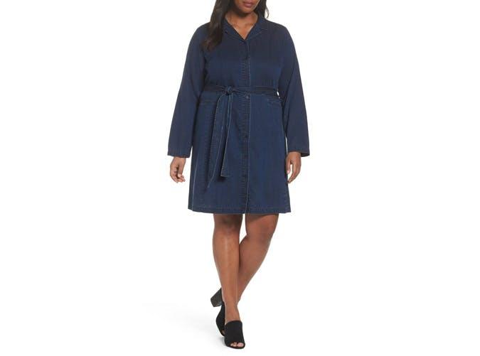 Eileen Fisher Denim Belted Dress