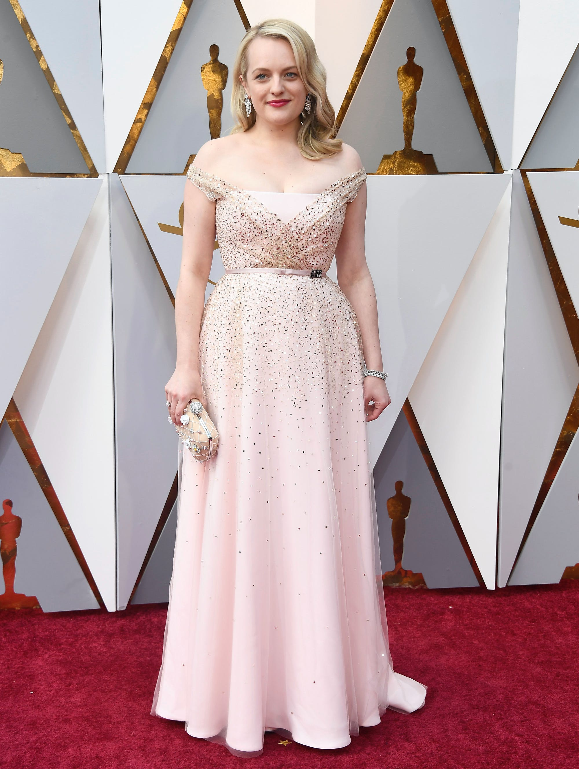 Elisabeth Moss at the 2018 Oscars