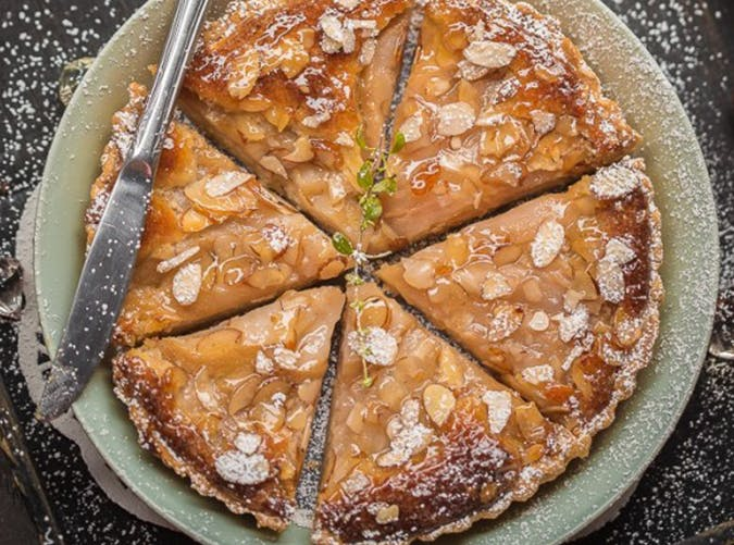 French Almond Cream   Pear Tart made with puff pastry