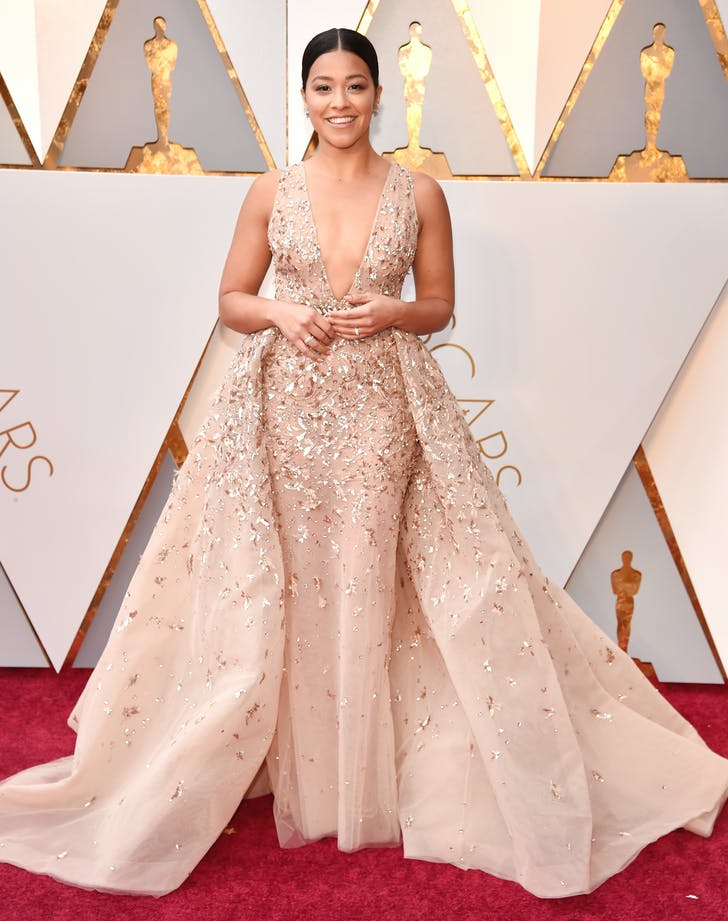Gina Rodriguez at the 2018 Oscars