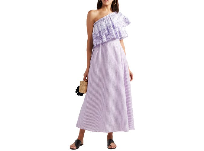 Gu l Hu rgel one shoulder dress