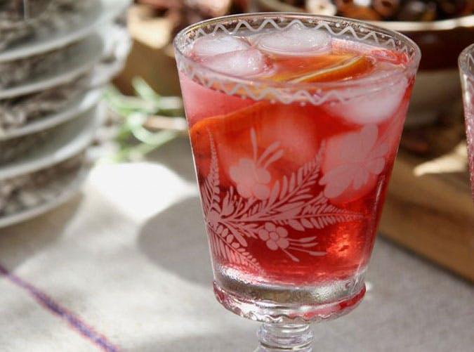 Hibiscus Tea Cocktails Low Sugar Drink