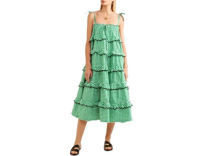 Innika Choo Tiered Midi dress