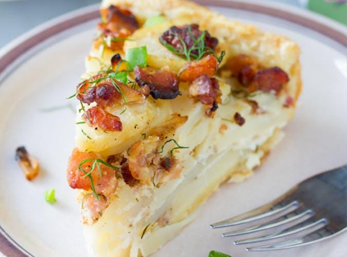 Irish Potato Pie recipe