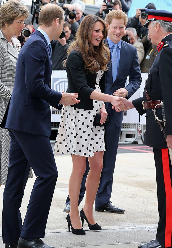 Kate Middleton Harry Potter World polka dot dress