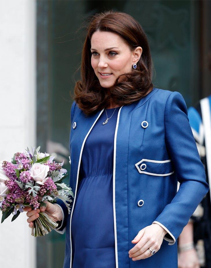 Kate Middleton blue dress blue coat