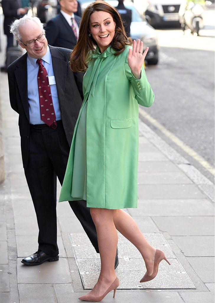 Kate middleton mint green coat dress spring