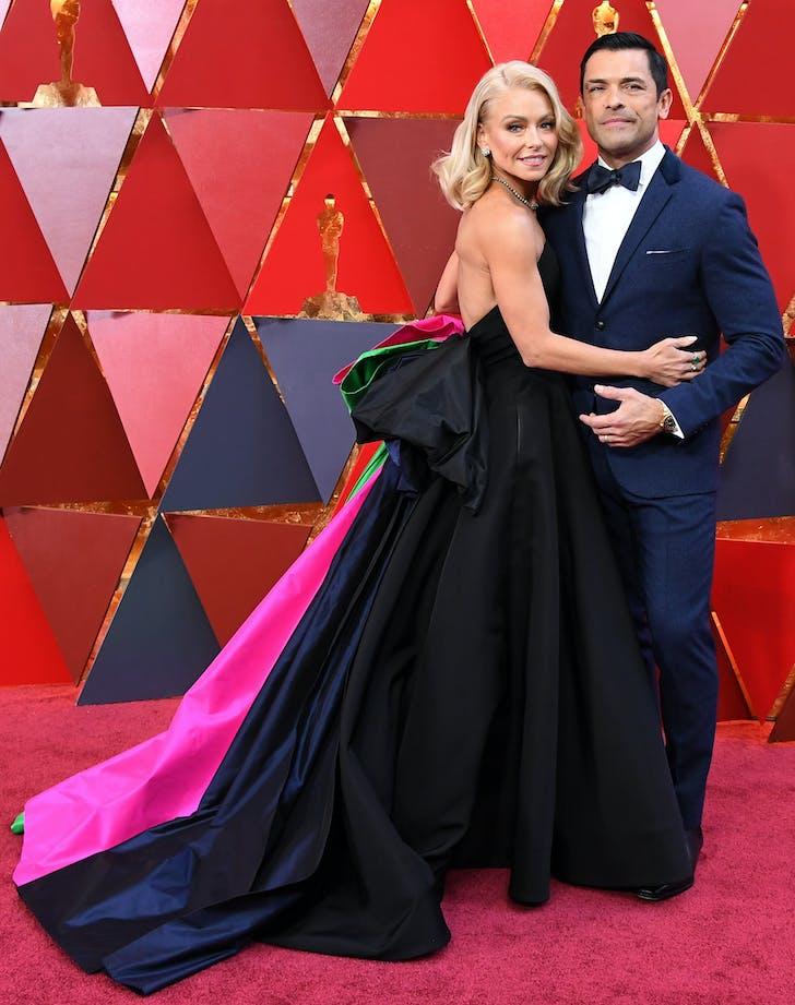 Kelly Ripa Mark Consuelos 2018 Oscars red carpet