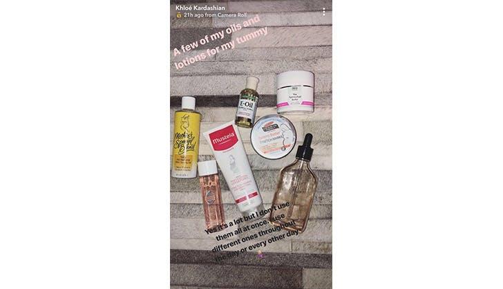 Khloe Kardashian vertical beauty products