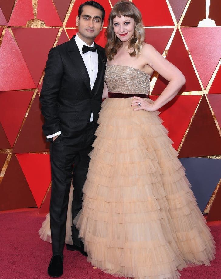 Kumail Nanjiani Emily V. Gordon 2018 Oscars red carpet