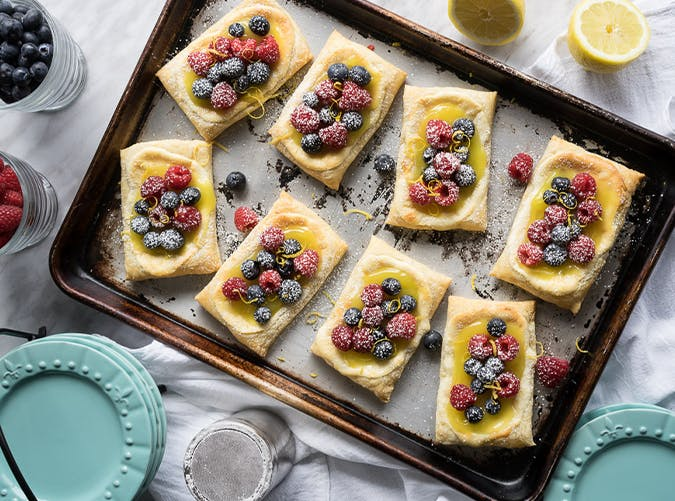 Lemon Berry Cheesecake Puff Pastry