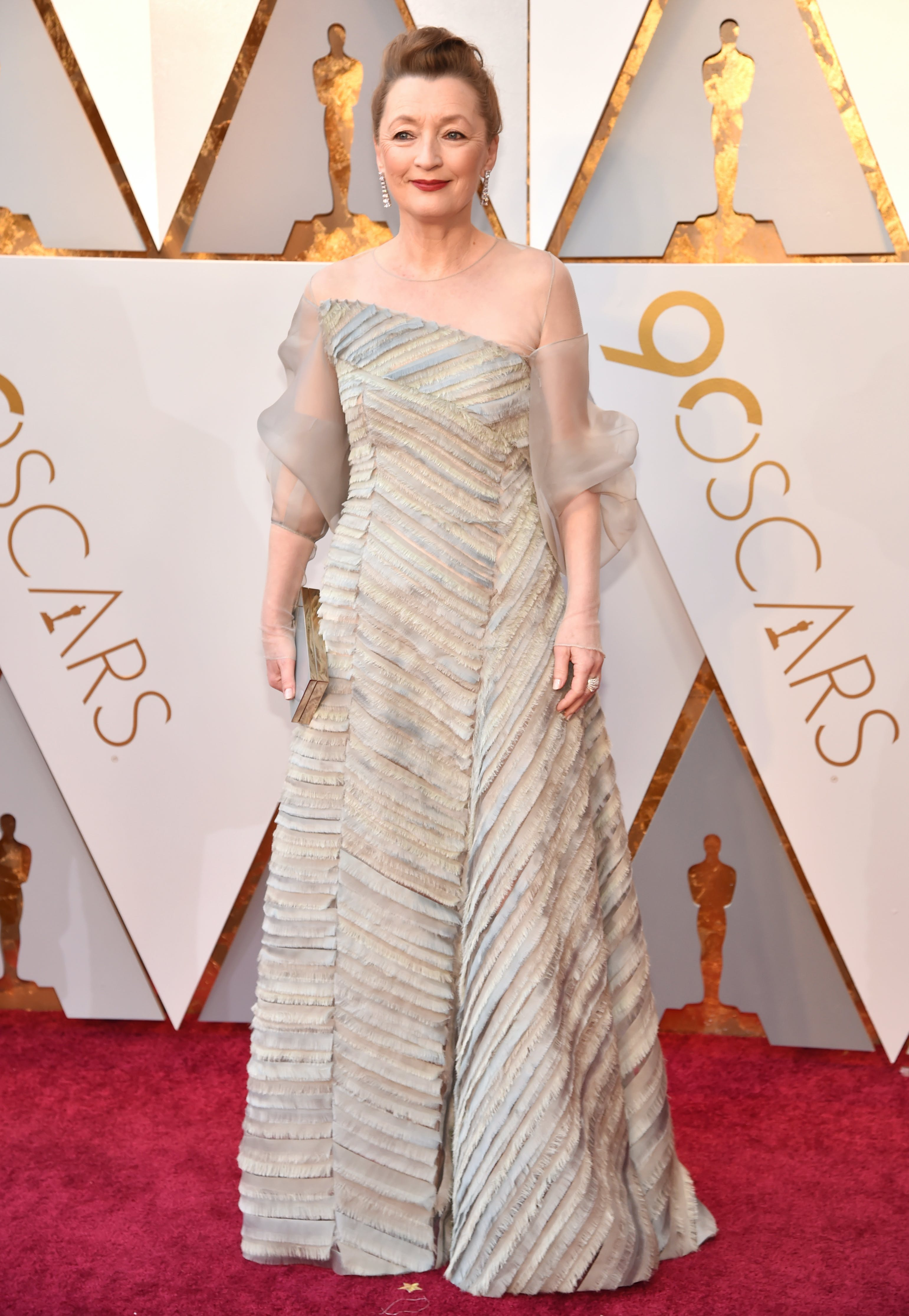 Lesley Manville at the 2018 Oscars