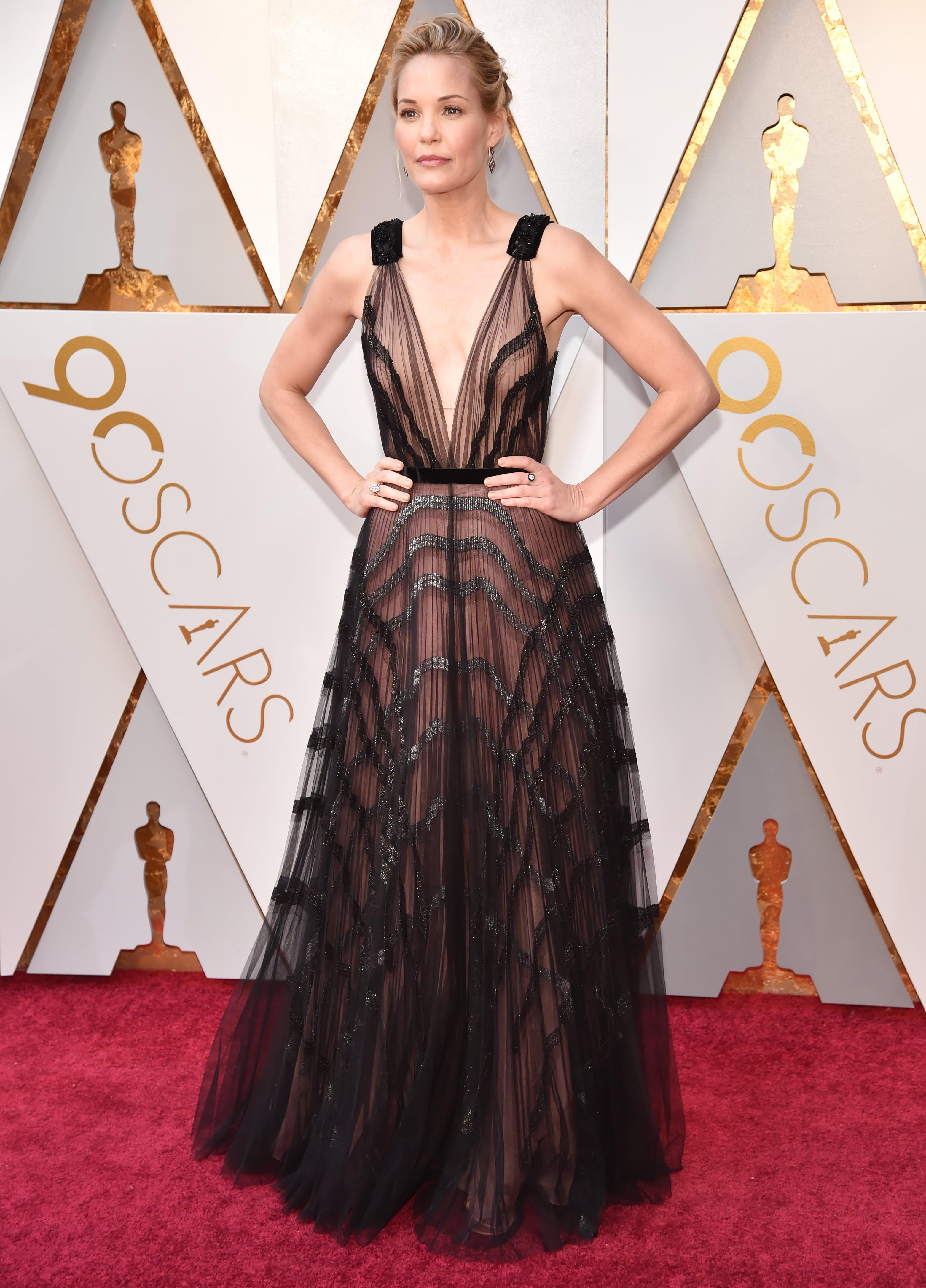Leslie Bibb at the 2018 Oscars