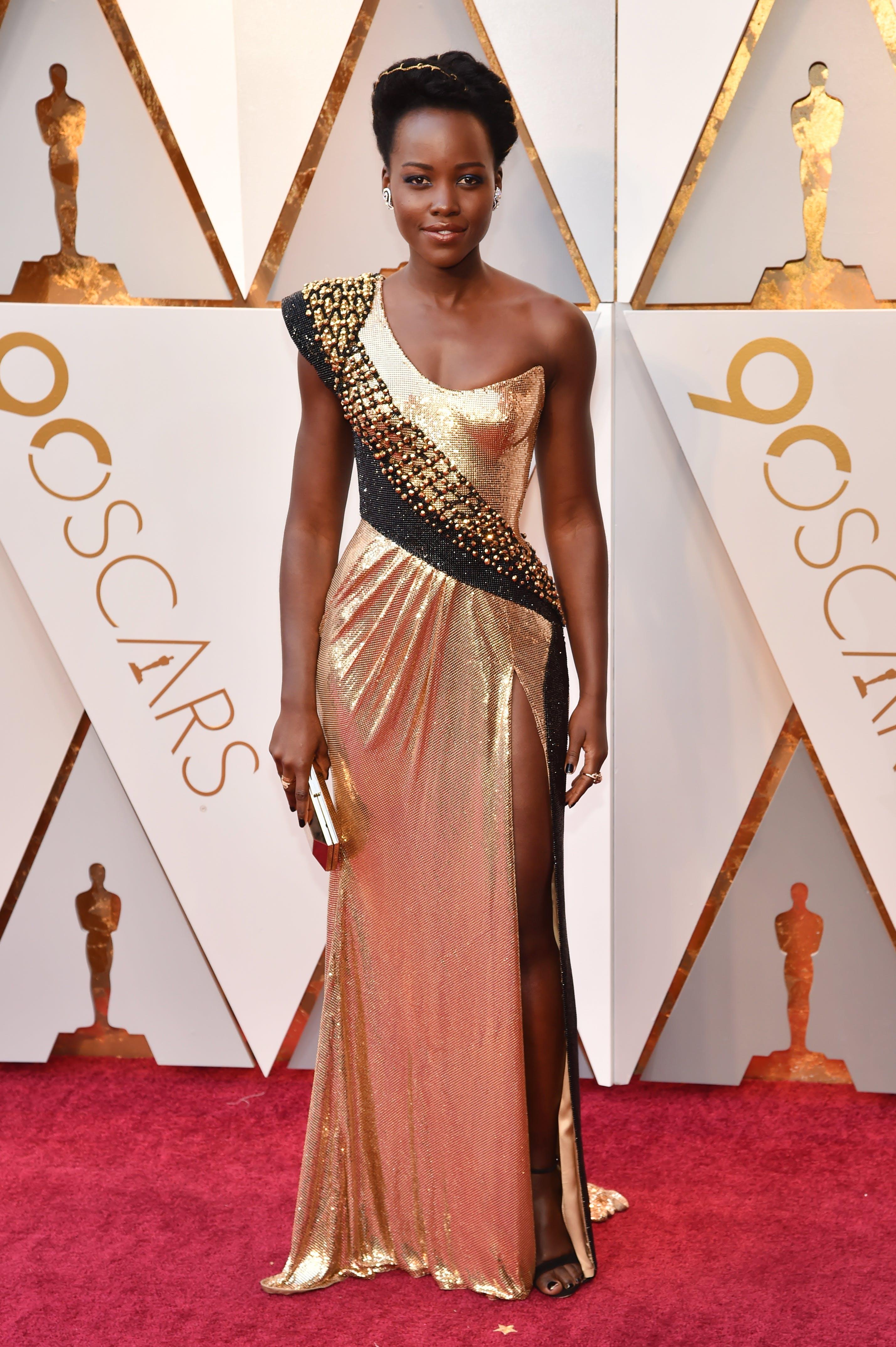 Lupita Nyong o at the 2018 Oscars