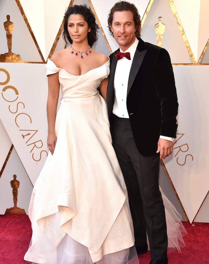Matthew McConaughey Camila Alves 2018 Oscar red carpet