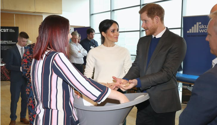 Meghan Markle Prince Harry chatting