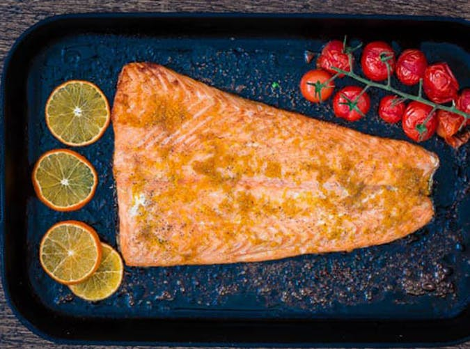 Orange and Cardamom Baked Salmon recipe