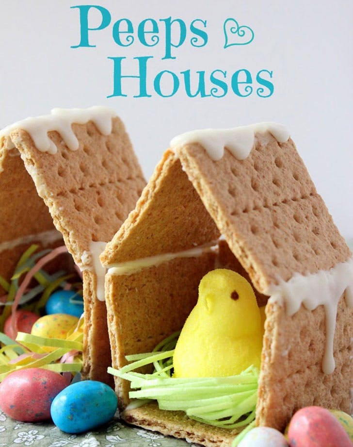 Peeps Houses Easter Craft idea