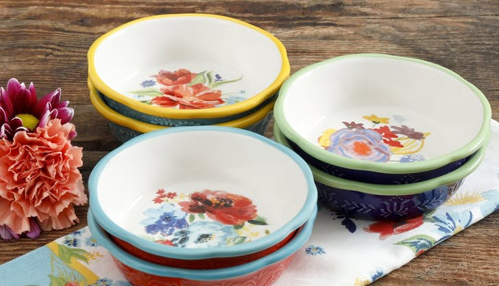 Pioneer Woman Spring 5 Inch Mini Pie Plates Set Six