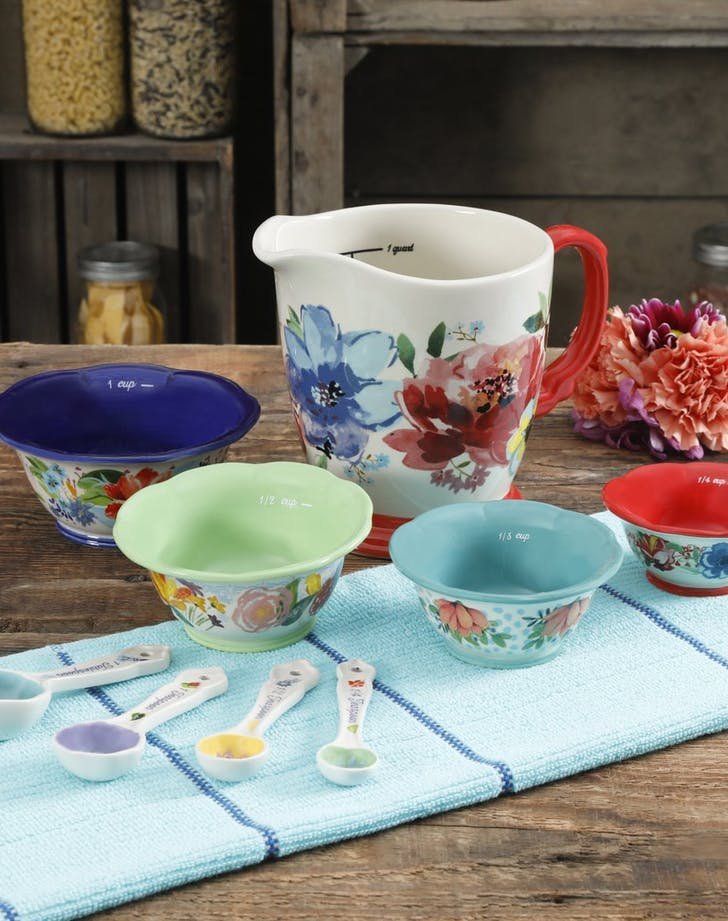 Pioneer Woman Spring Bouquet Nine Piece Prep Set