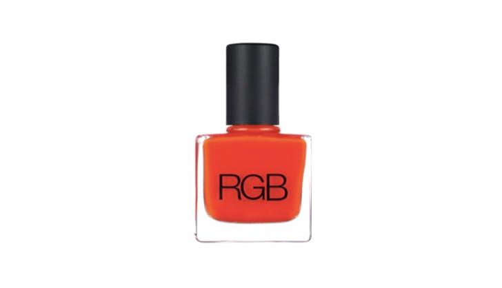 RGB orange nail polish