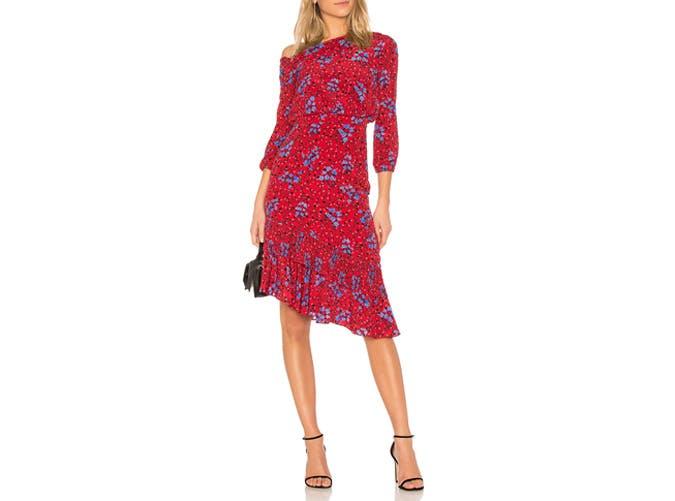 Saloni One Shouldered Dress