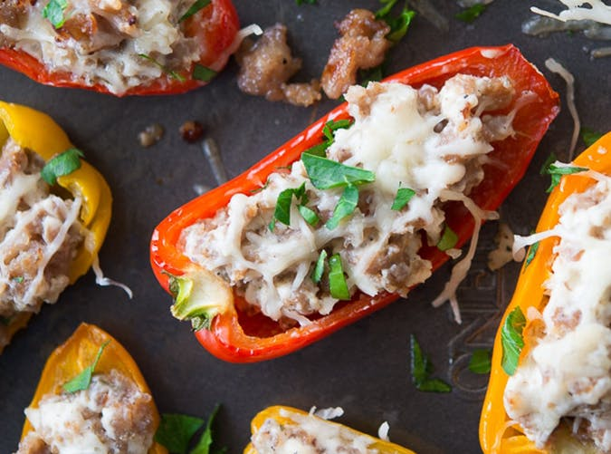 Sausage Stuffed Mini Sweet Peppers recipe