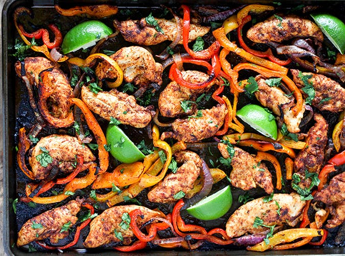 Sheet Pan Chicken Fajitas ketogenic recipe