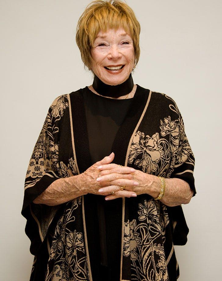 Shirley MacLaine smiling