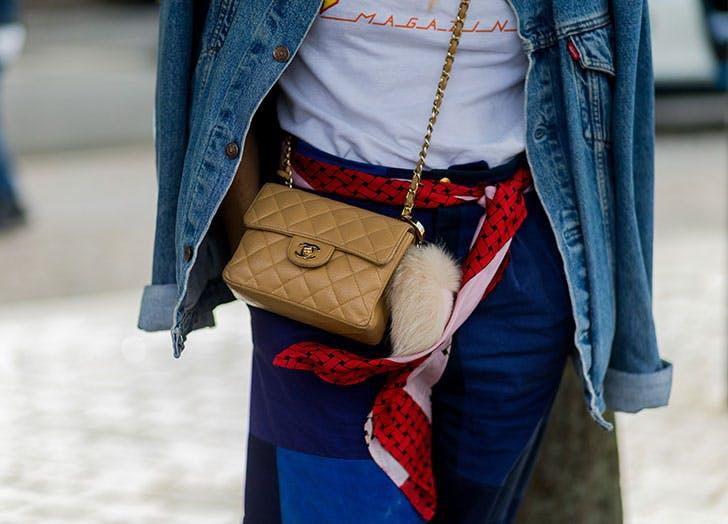 Silk belt as a scarf