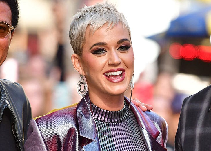 Singer Katy Perry laughing