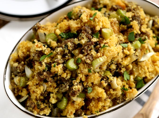 Slow Cooker Cornbread and Sausage Stuffing recipe