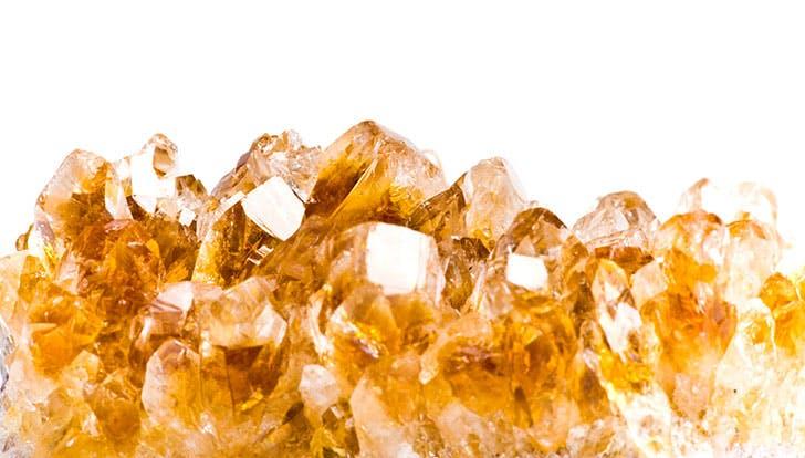 Sparkly citrine healing crystal