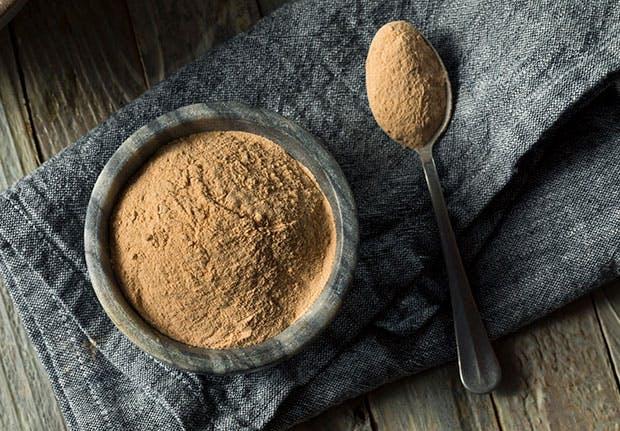 Spoon full of maca powder