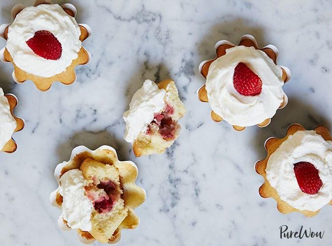 Strawberry Shortcake Cupcakes Easter Dessert