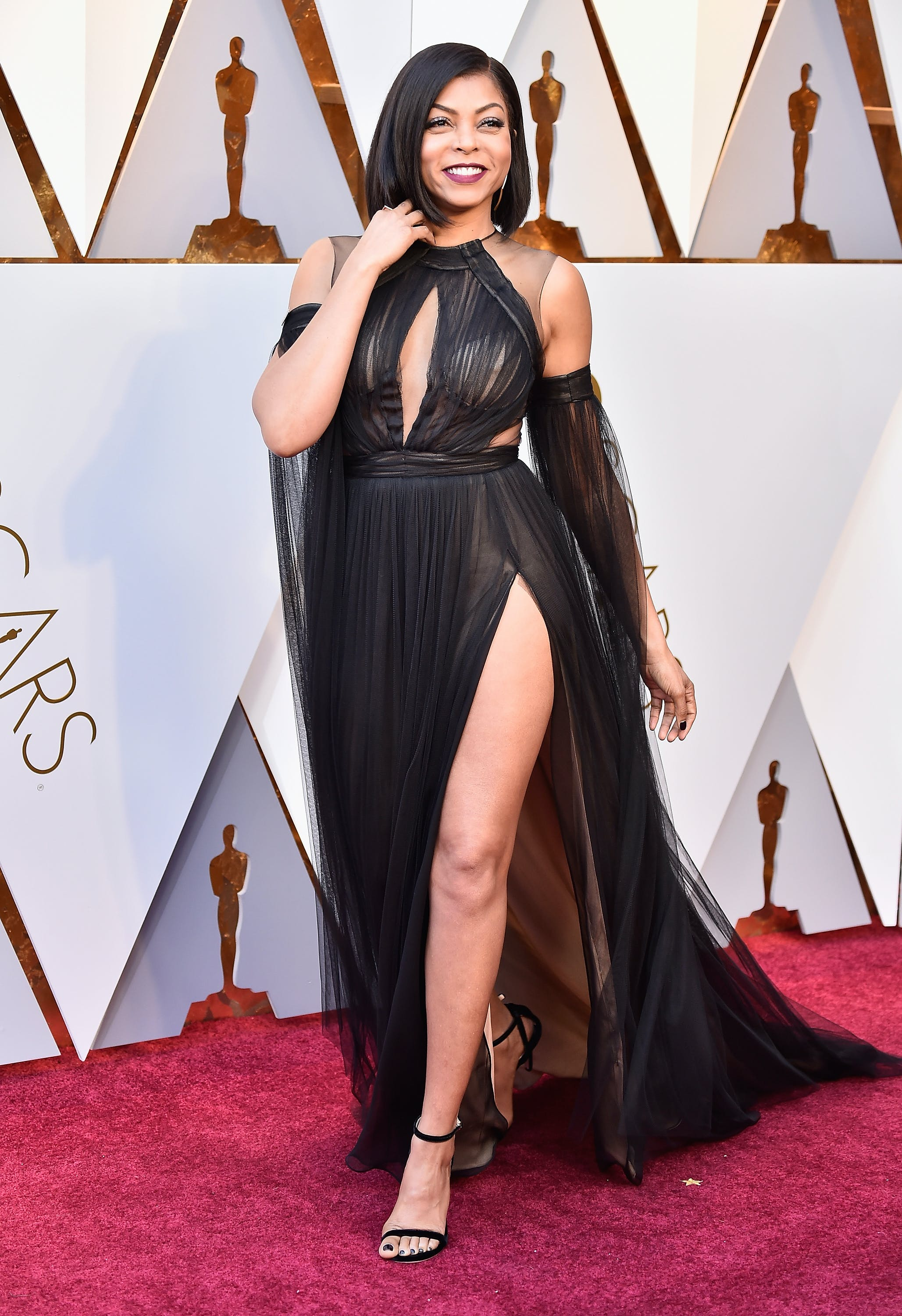 Taraji P Henson on the 2018 Oscars red carpet
