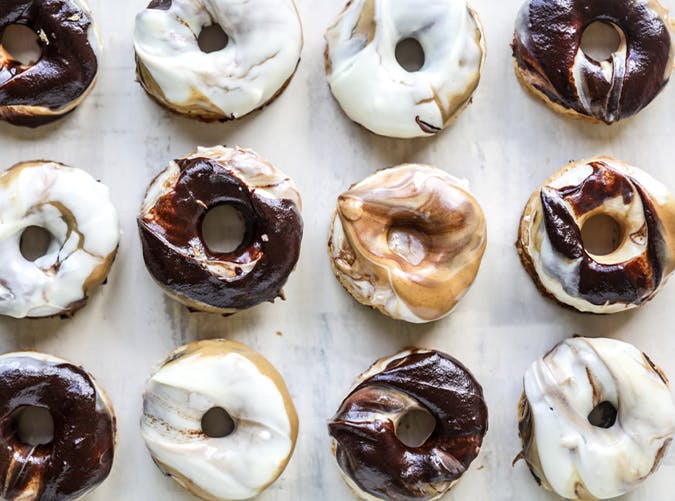 Triple Dipped Chocolate Peanut Butter Doughnuts