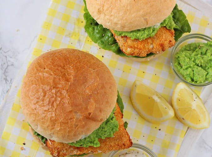 air fryer fish finger sandwiches