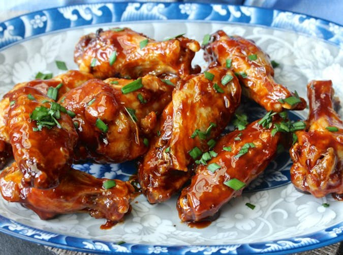air fryer honey sriracha chicken wings
