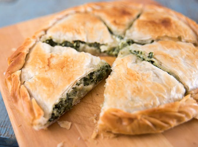 air fryer spanakopita pie