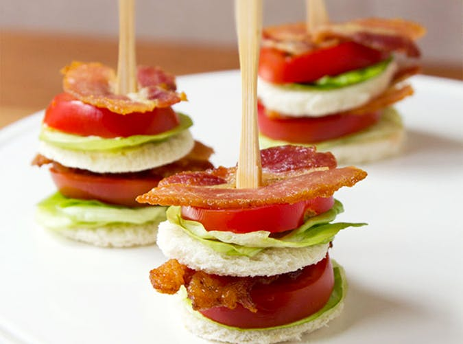 bacon lettuce tea sandwiches keto