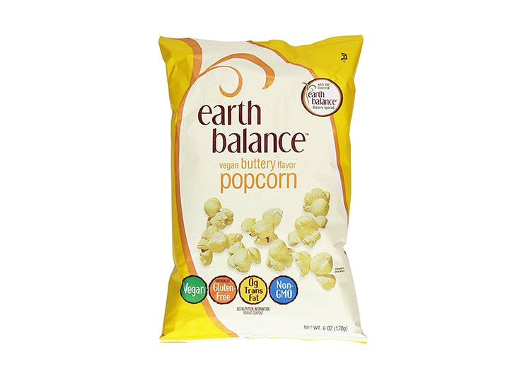 bag of earth balance buttered popcorn