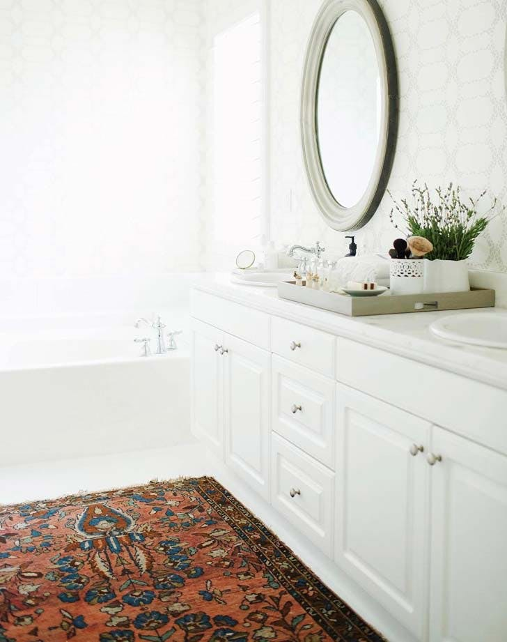 bathroom oriental rug