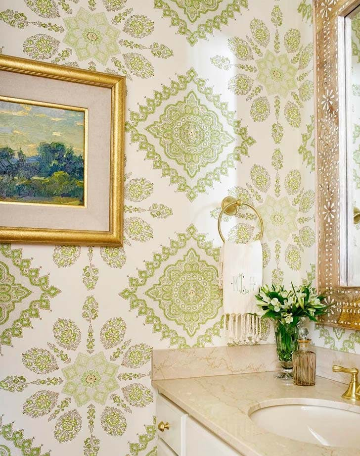 bathroom powder wallpaper