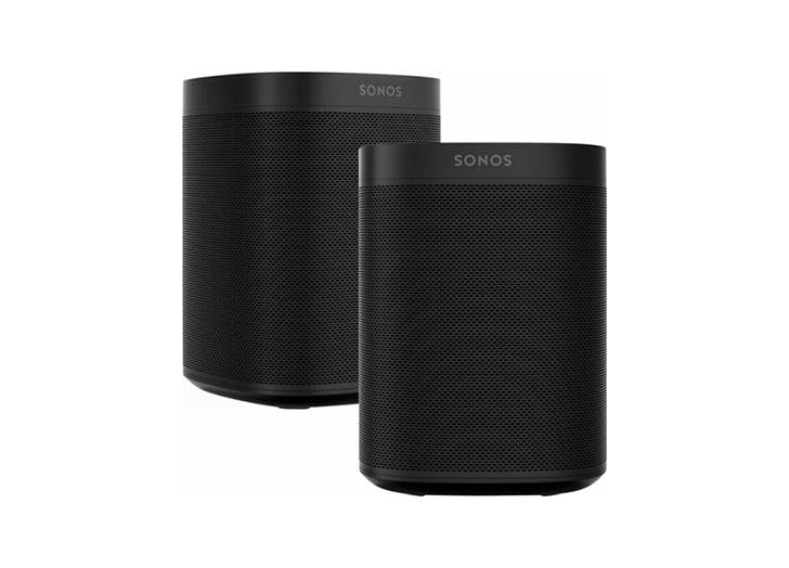 black sonos speaker set