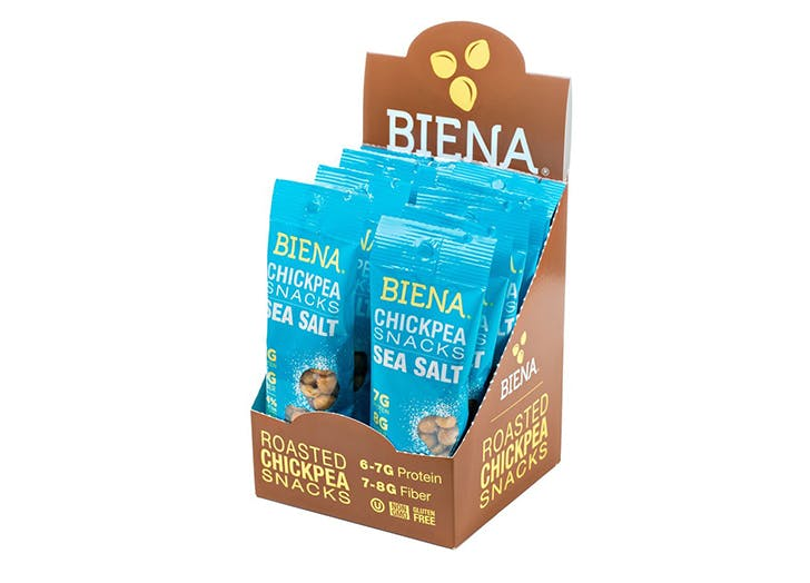box of biena roasted chickpea snacks