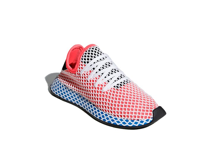 boys adidas red and blue sneakers