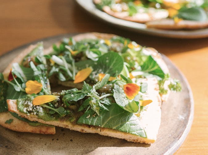 cannabis inused green goddess flatbread recipe