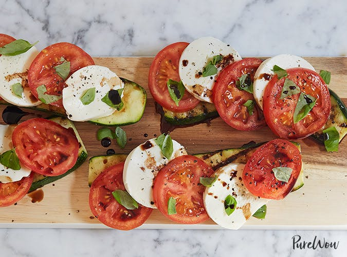 caprese salad with grilled zucchini recipe