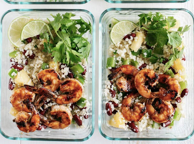 caribbean jerk shrimp cauliflower rice recipe